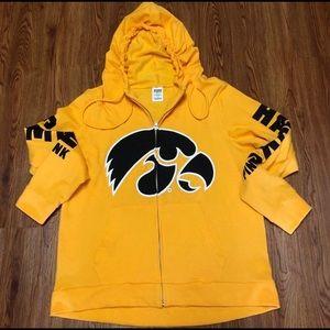 Full Zip Hooded Iowa Hawkeye Sweatshirt
